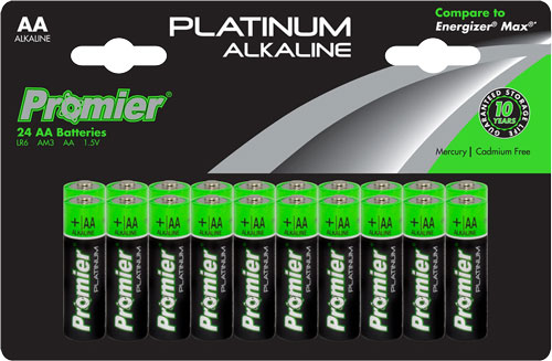 Promier Aa Alkaline Batteries - 20-pack