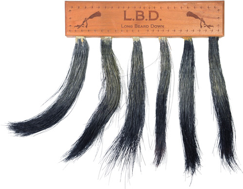 Pittman Game Calls Long Beard - Down Multi Turkey Beard Mount