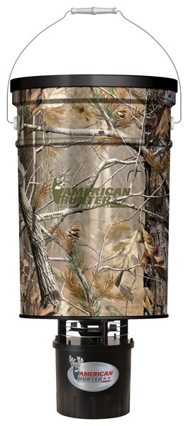American Hunter Feeder Hanging - 50lb Metal Hopper Rt-ap Camo