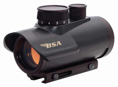 Bsa 1x30mm Red Dot Sight - 5-m.o.a. Dot Black Matte