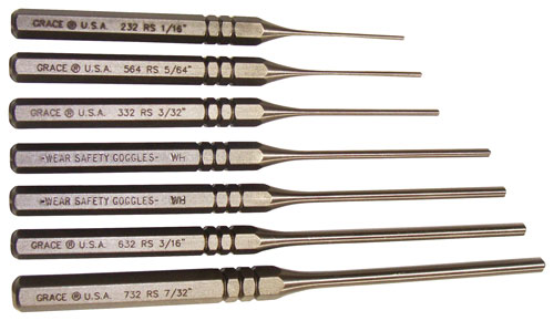 Grace Usa Punch Set - Roll Pin Punch Set Of 7 Steel