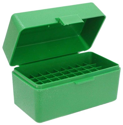 Mtm Ammo Box .22/6mm Ppc & Br - 50-rounds Flip Top Style Green