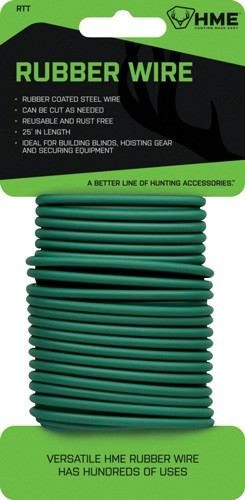 Hme Rubber Wire 25' Green -