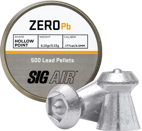 Sig Pellets .177 Zero 8.20gr - Hp Tip Lead Alloy 500 Ct.