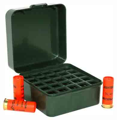"Mtm Ammo Box Shotshell To 3"" - 1216& 20ga. 25-rounds F Grn"