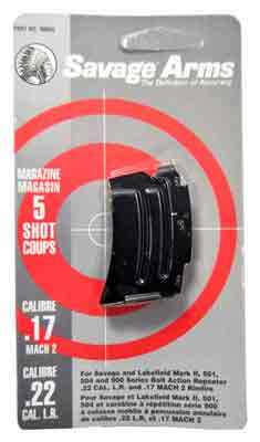 Savage Magazine Mkii Series - .22lr/.17hm2 5-rnd Blued