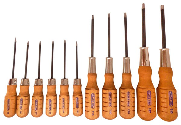 Grace Usa Screwdriver Set - Torx Head Set Of 11
