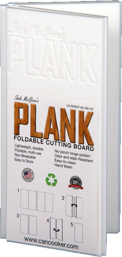 "Can Cooker The Plank 8""x16"" - Folding Cutting Board!"