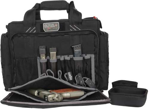 Gps Tactical Range Bag W/ - Foam Cradles For 5 Guns Black