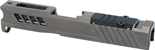 True Precision Glock 43 Slide - W/rms Cut & Plate Stealth Grey
