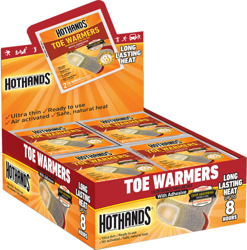 Hothands Toe Warmers 40 Pair - 8 Hour W/ Adhesive