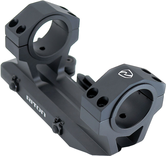 "Riton Quick Detach Scope Mount - For 30mm And 1"" Tube Black"