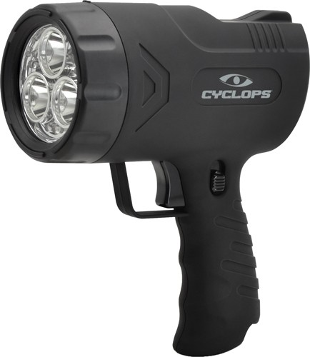 Cyclops Spotlight Rechargeable - Handheld Sirus 500 Lum Led Blk