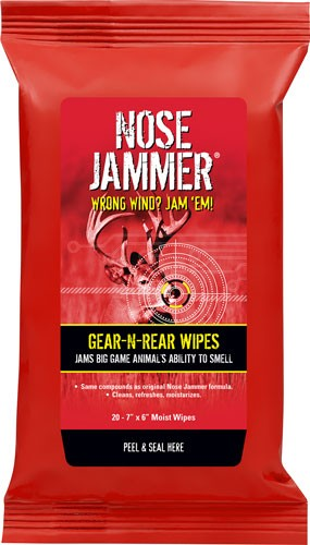 "Nose Jammer Gear And Rear - 7""x6"" Wipes 20-pack"