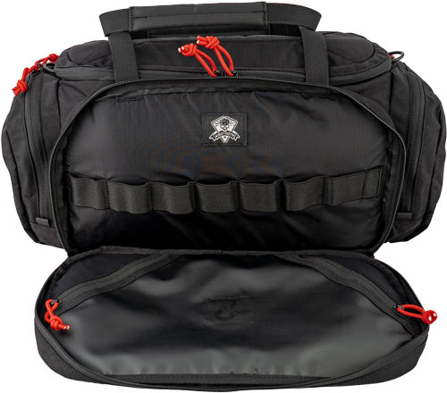 Grey Ghost Gear Range Bag - Black W/red Zipper Pulls