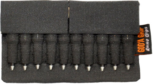 God'a Grip Ammo Grip Standard - 10 Shell Holder Black W/ 3m