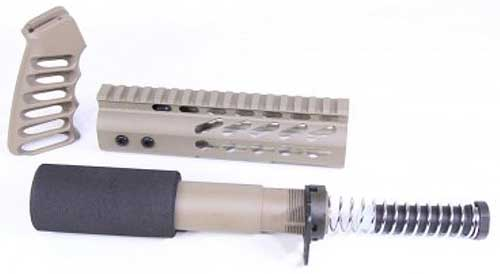 Guntec Ar15 Furniture Set - Honeycomb Series Fde